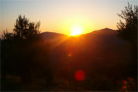 the sunrise in sardinia italy