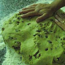 shaping cookie dough with your hands