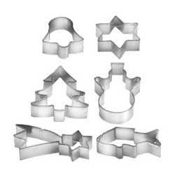6 piece cookie cutter set