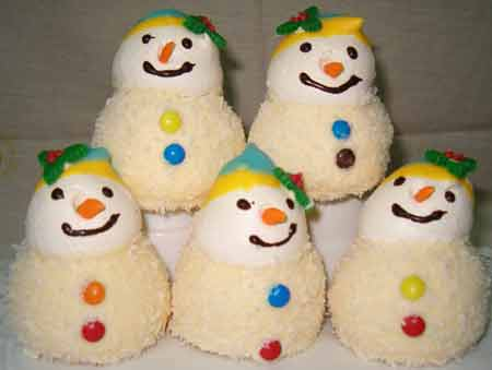 snowman cookies made with meringue