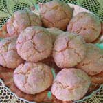 a tray of sardinian amaretti cookies