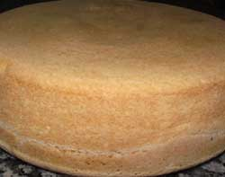 sponge cake ready to eat
