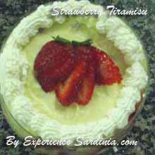 italian dessert with strawberries