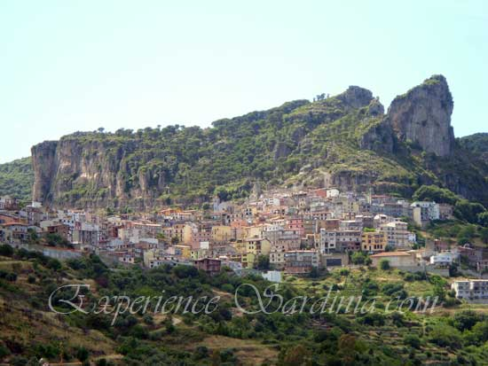 view of the mountain village ulassai in ogliastra sardinia