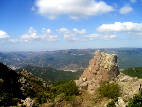view from monte ferru in sardinia