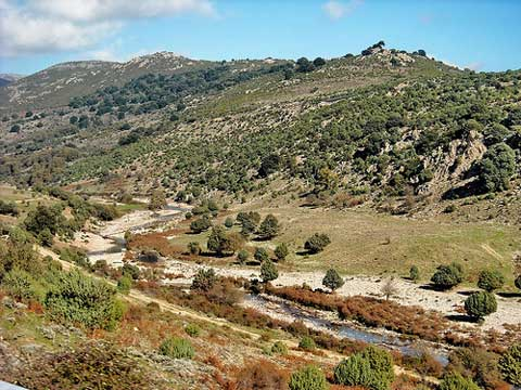 panoramic view of the landscapes around villagrande