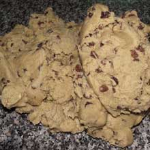 walnut cookie dough mixture