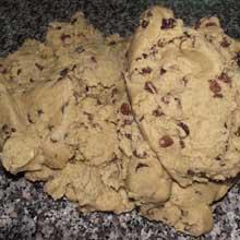 walnut cookie dough mixture
