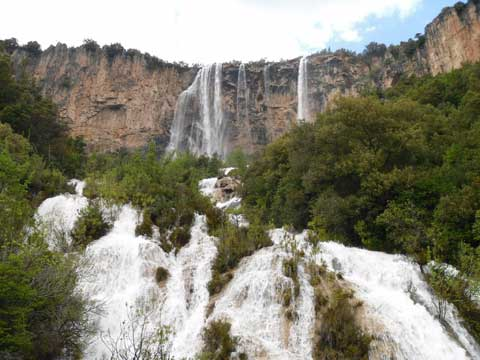 the waterfalls near the locality of santa barbara in ulassai