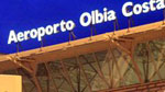 sign post on top of olbia airport