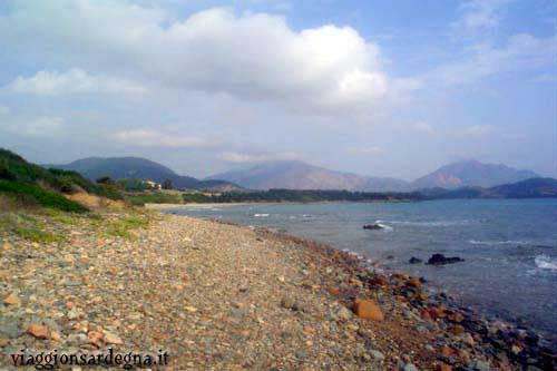The Barisone Beach in the Marina di Tertenia
