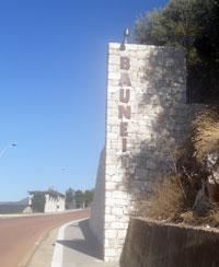 sign post of baunei