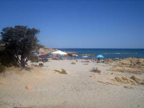 on the beach in cala liberotto