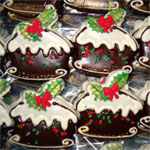 christmas puding cookies