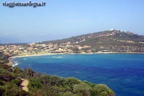 panoramic view of the bay of porto frailis arbatax