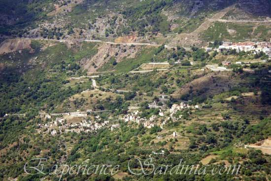 old town of Gairo sardegna italy