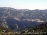 panoramic view of the mountains near the village of dorgali sardinia