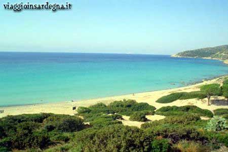the beach of mari pintau in cagliari