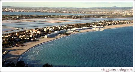 the splendid italian beach il poetto in cagliari