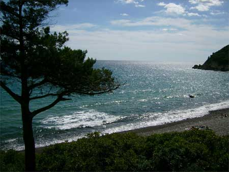 the beach of coccorocci in sardinia italy