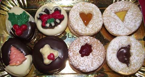 assortment of italian cookies