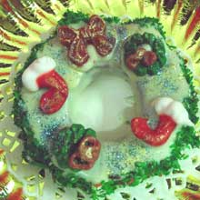 decorated wreath cookies