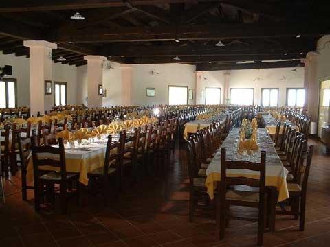 the dining room at the rifugio di ogliastra