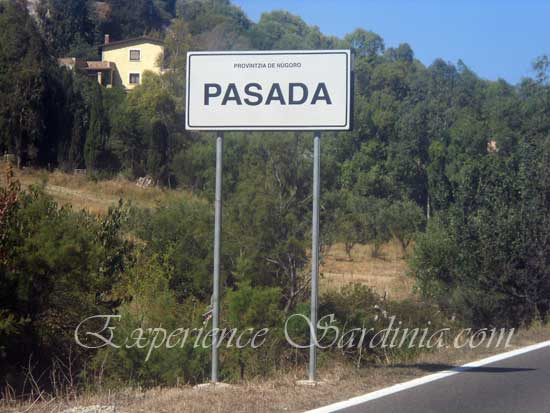 sign post of the town of posada in italy sardegna