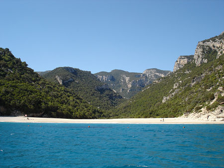 the beach of cala sisine in oglastra