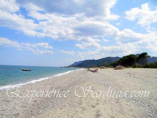 view facing north of the sardinia beach foddini in ogliastra