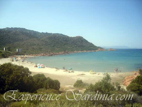 view of the su sirboni beach from the mountain