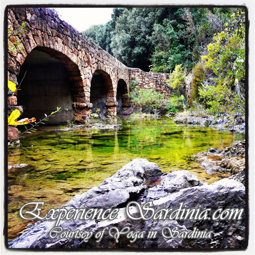 old bridge in sardinia italy