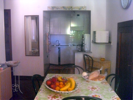 the dining are in the villa apartment