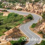 the windy mountain side roads of sardinia italy