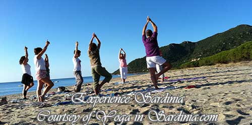 yoga retresta in sardinia italy