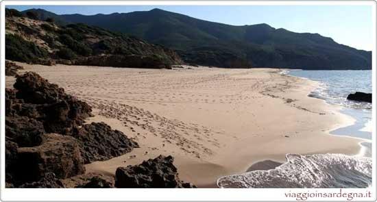 Picture of the Scivu Beach in medio campidano