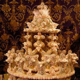 a traditional sardinia wedding cake made out of biscuit